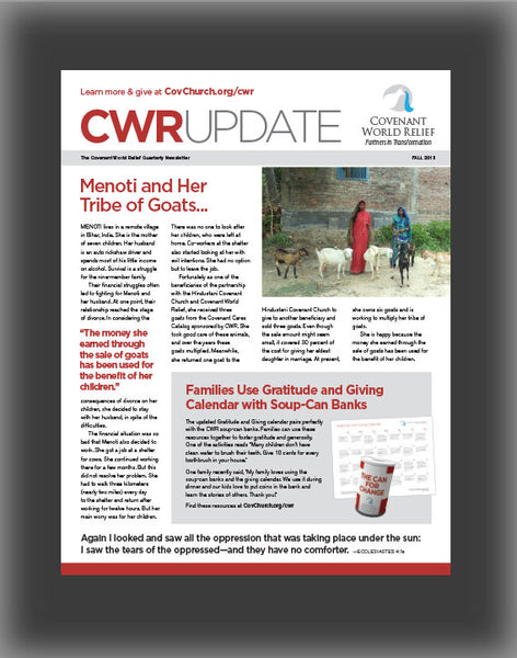 Covenant World Relief Ministry Update (Fall 2015)