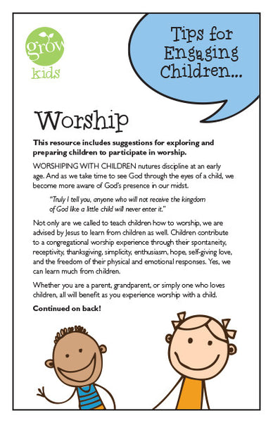 Grow Kids-Worship (Tips For Engaging Children)