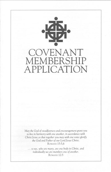 Covenant Membership Application