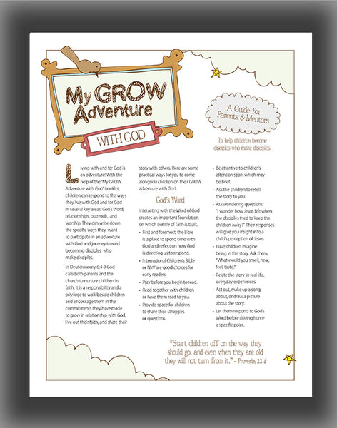 My GROW Adventure with God: A Guide for Parents and Mentors