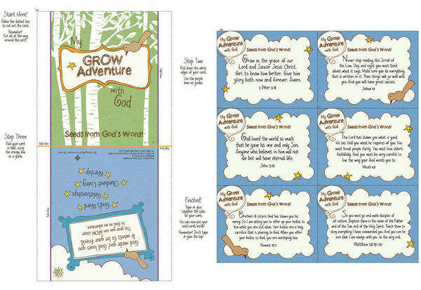 My Grow Adventure with God: Seed packet and cards