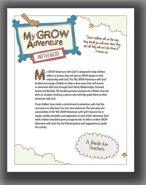 My GROW Adventure with God: A Guide for Teachers