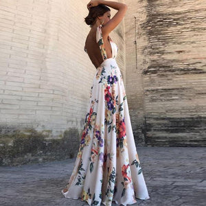 Sexy New Backless Floral Print Maxi Dress 7017f033a