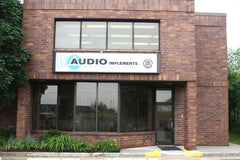 Audio Implements storefront in Waukesha, WI