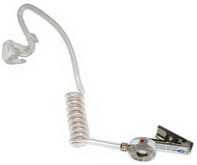 111-Clear OCCS-R Audioclarifier with Custom Ear Mold for RIGHT EAR