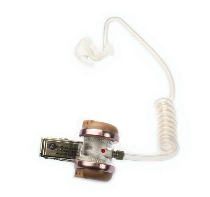 121/131 OCCD-R Audioclarifier with Custom Ear Mold for RIGHT EAR - Double Receiver Clip