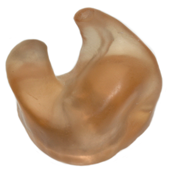 Reorder 154 RCSP-L Regular/Off-Camera Custom SOFT Plastic Ear Mold for the LEFT EAR