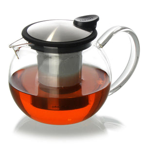 ForLife Bola Glass 25 oz. Teapot