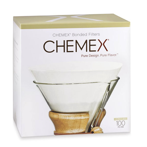 Chemex Pre-Folded Coffee Filter Circles - 100 Count