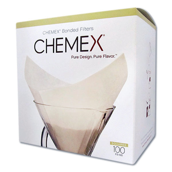 Chemex Square Coffee Filters - 100 Count