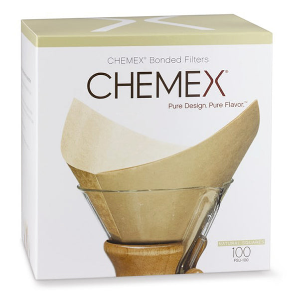 Chemex Natural Square Coffee Filters - 100 Count