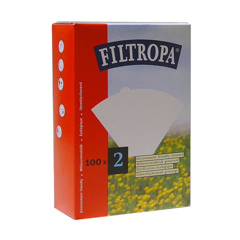 Filtropa White Coffee Filters - #2