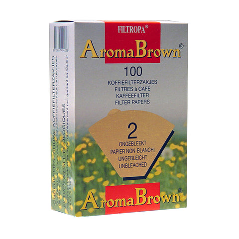 Filtropa Aroma Brown Coffee Filters - #2