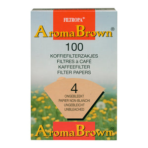 Filtropa Aroma Brown Coffee Filters - #4