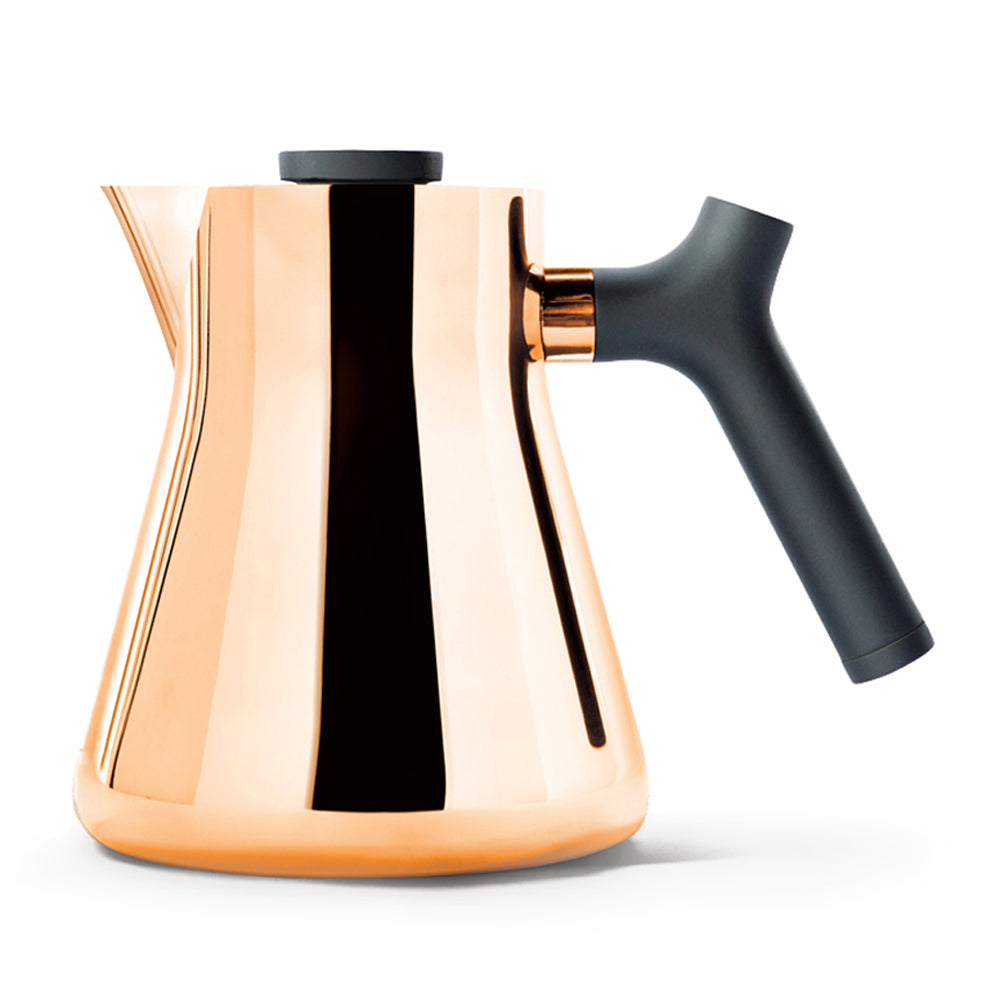Fellow Raven Stovetop Tea Kettle and Tea Steeper - Polished Copper