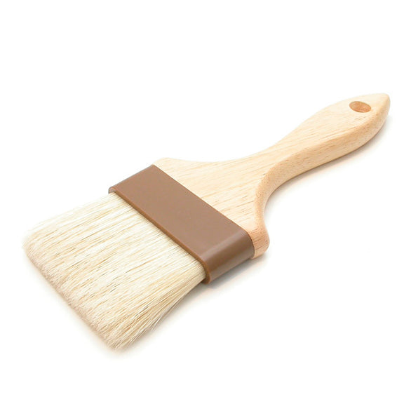 "3"" Wide Flat Brush with Natural Bristles"