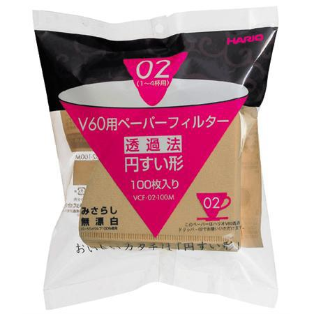 Hario V60 Misarashi Natural #02 Coffee Filter - 100 Pack