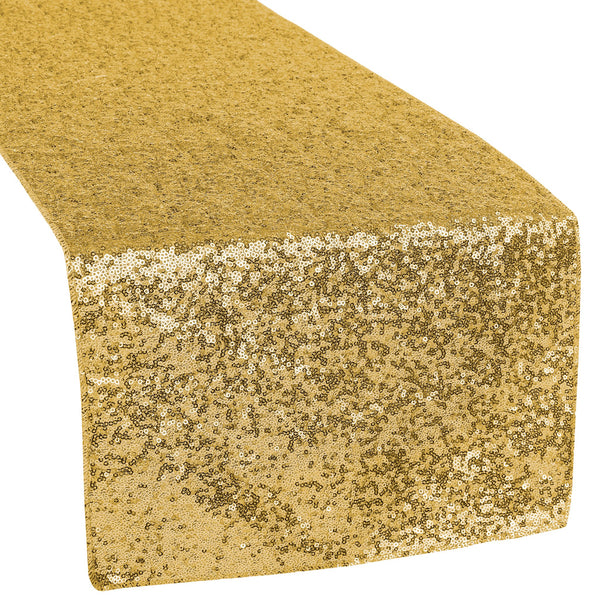 Get 12  Gold Sequin Table Runner