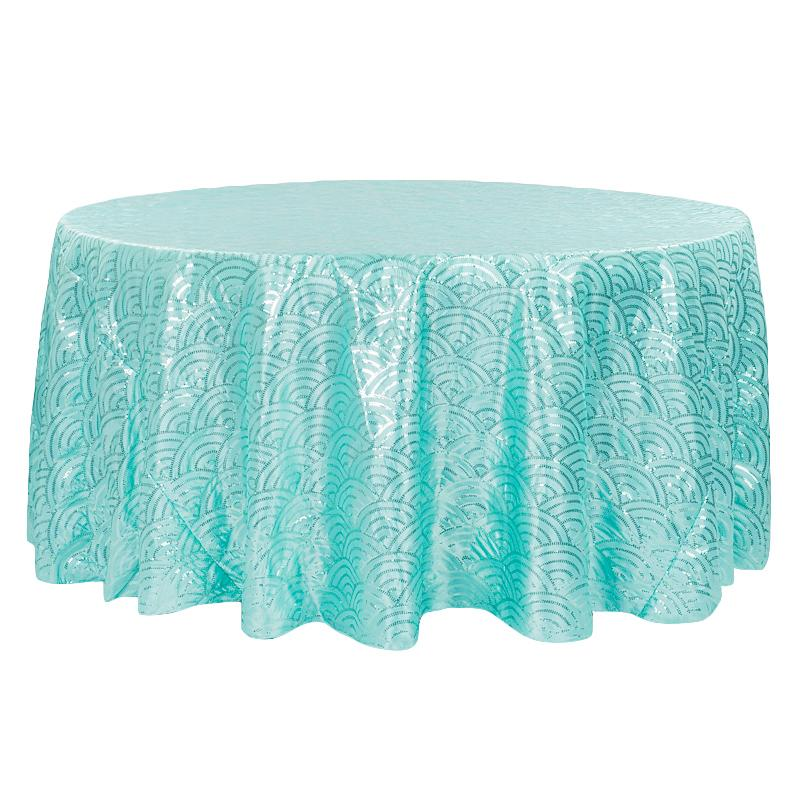 Turquoise Tablecloth Mermaid Scale