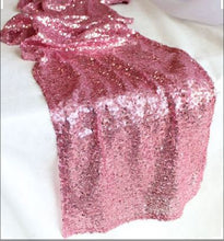 "Load image into Gallery viewer, 12 Pink Sequin Table Runner Size 12""x108"""