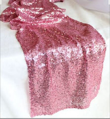"12 Pink Sequin Table Runner Size 12""x108"""