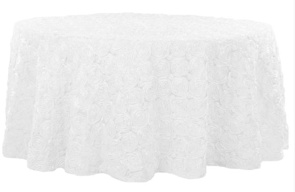 Rosette SATIN Round Tablecloth