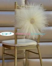 Load image into Gallery viewer, Chair Band with Buckle  Stretch Chair Band with Rhinestone Buckle (Qty12)