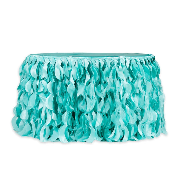 Turquoise  Curly Willow Table Skirt