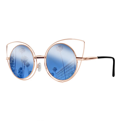 Eye Love Shadez Lifestyle Sunglasses | Retro Collection | Round Cat-Eye Sunglasses Blue