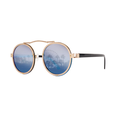 Eye Love Shadez Timeless Aviator Festival Sunglasses Blue