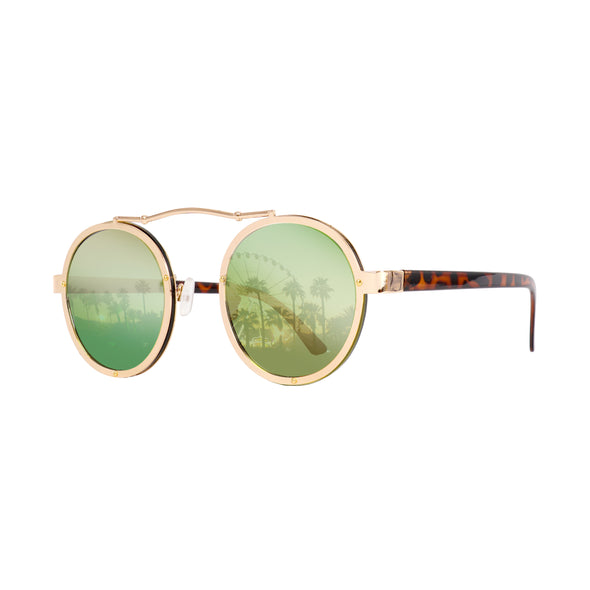 Eye Love Shadez Timeless Aviator Festival Sunglasses green