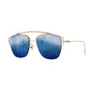 Eye Love Shadez | Retro Collection | Metal Square Sunglasses Dark Blue
