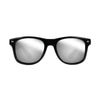 Eye Love Shadez | Wayfarer Sunglasses Collection | Black + Silver Reflective Lens Front