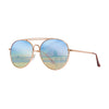 Retro Collection | Two-Tint Aviator Sunglasses Blue / Yellow