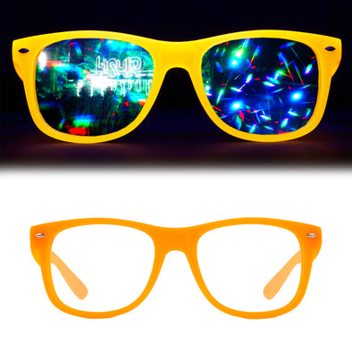 Eye Love Shadez | Diffraction Glasses | Glow In The Dark Orange