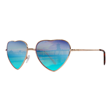 Lifestyle Sunglasses | Retro Collection Metal Sunglasses | Heartz Blue