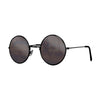 John Lennon | Retro Collection Round Sunglasses | Black Smoke Angle