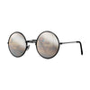 John Lennon | Retro Collection Round Sunglasses | Black With Mirrored Lens Angle