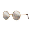 John Lennon | Retro Collection Round Sunglasses | Gold With Silver Mirrored Lens