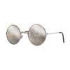 John Lennon | Retro Collection Round Sunglasses | Silver With Silver Mirrored Lens