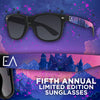 Limited Edition Ever After Music Festival Fifth Annual Sunglasses | Black on Black Smoke Lenses