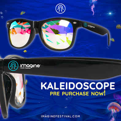 Limited Edition Imagine Music Festival | Square Kaleidoscope Glasses | Black