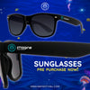 Limited Edition Imagine Music Festival Sunglasses | Black on Black Smoke Lenses