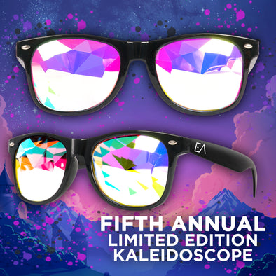 Limited Edition Ever After Music Festival | Square Kaleidoscope Glasses | Black