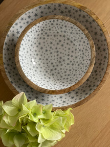 Small Wooden Enamel Star Bowl