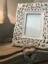 Load image into Gallery viewer, White Filigree Frame