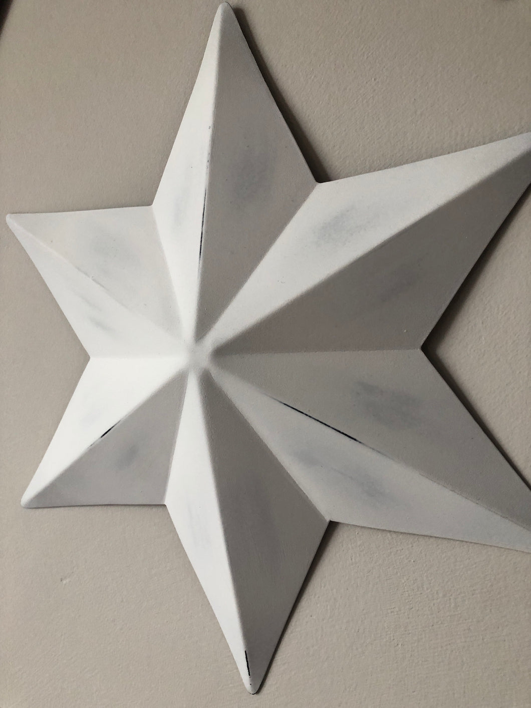 Small White wall star