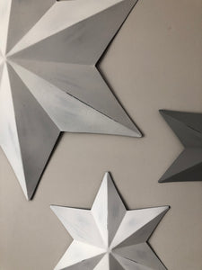 Large White Wall Star