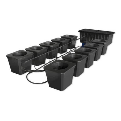 Image of 10-Site Bubble Flow Buckets Hydroponic Grow System-BubbleFlow Bucket 10-westtradinghouse.com
