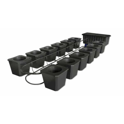 Image of 12-Site Bubble Flow Buckets Grow System-SuperPonics-BubbleFlow Bucket 12-westtradinghouse.com